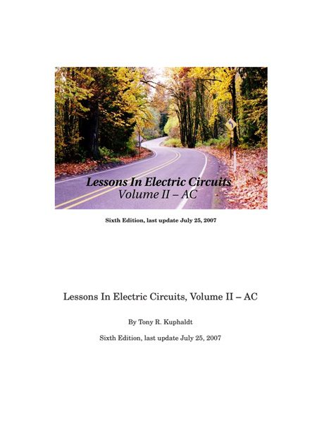 Lessons In Ac Electrical Circuits Eep