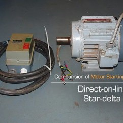 Star Delta Wiring Diagram Motor Dometic Rv Fridge Comparision Of Dol And Starting Direct On Line