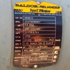 Dayton Motors Wiring Diagram Well Pump Control Box Baldor Motor Frame Chart - Impremedia.net