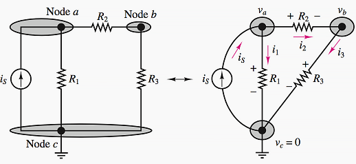 The Node Voltage Method For Analysis Of Electric Circuits