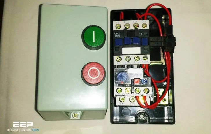Single Phase Starter Wiring Diagram Dol Starter Wring Electricians