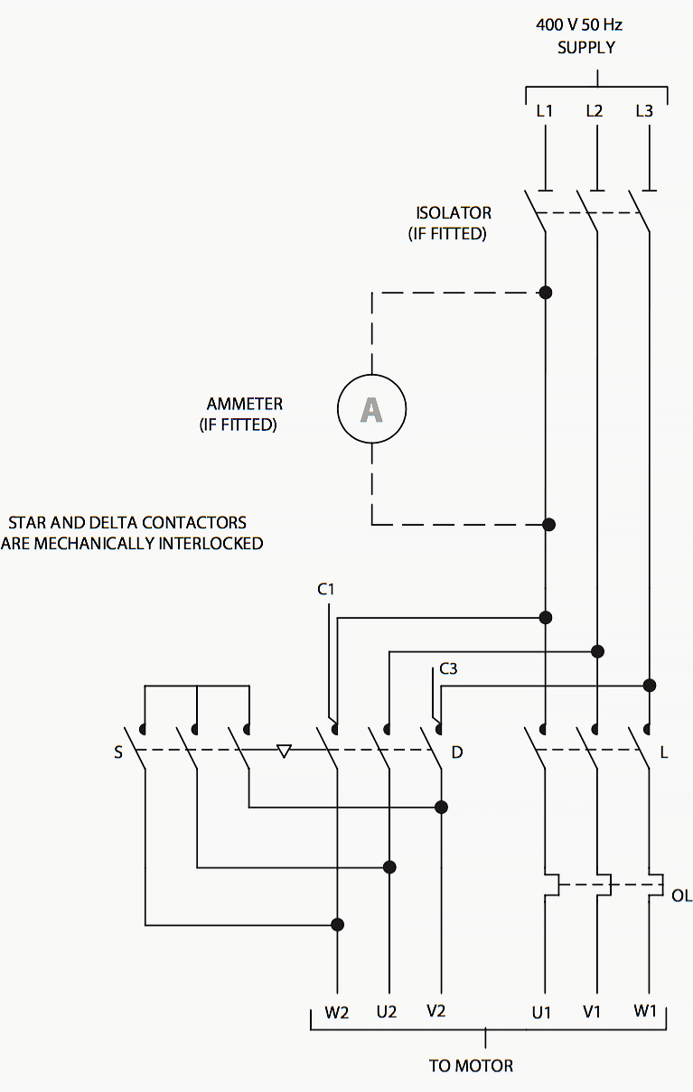 Three Phase 2 Speed Wiring Diagram How To Select Contactors For Use In Direct On Line Starters