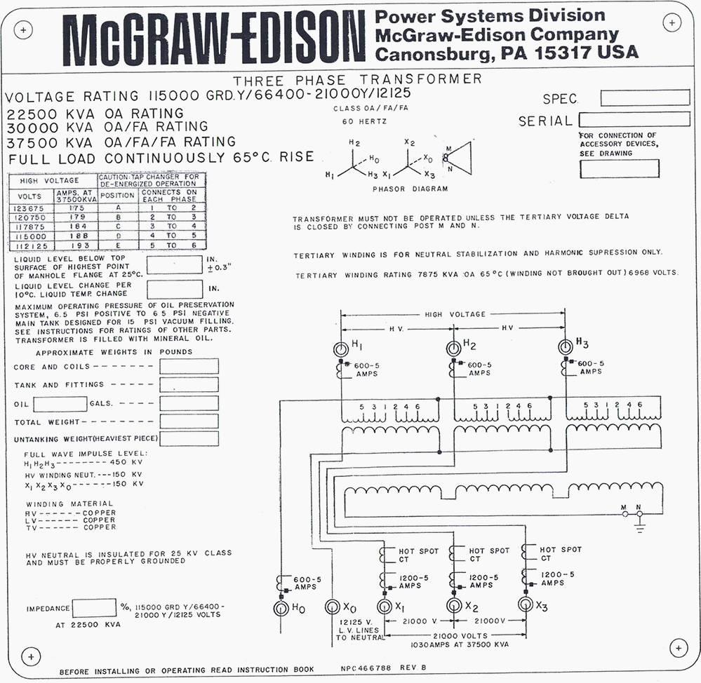 hight resolution of mcgraw edison oil distribution transformer nameplate