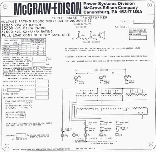 small resolution of mcgraw edison oil distribution transformer nameplate