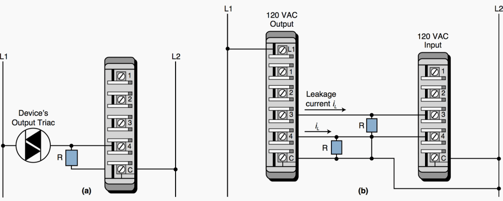 medium resolution of  a a connection for a leaky input device and b the connection