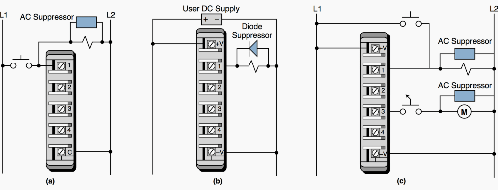 medium resolution of guidelines for plc installation wiring and connection precautions eepsuppression of a a load
