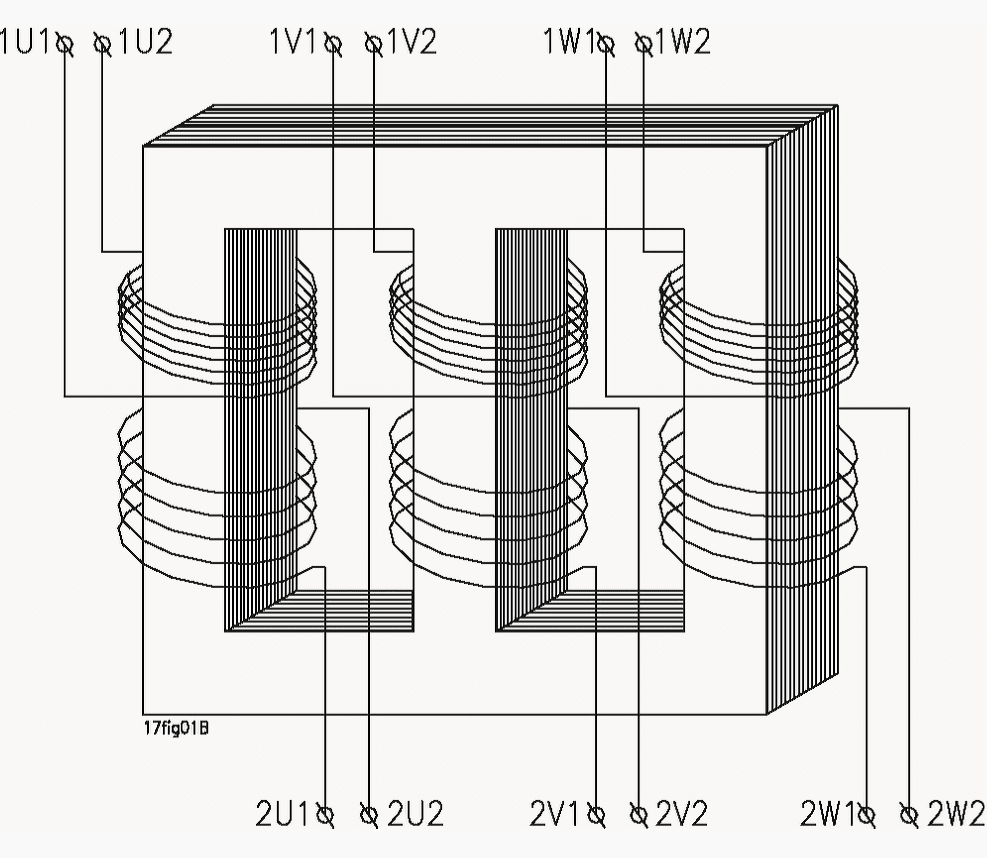 Three-phase transformer connections and vector groups for