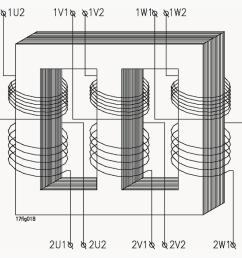 schematic diagram of a three phase transformer [ 987 x 858 Pixel ]