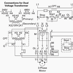 480v 3 Phase Wiring Diagram Gm Starter Solenoid Of Control Power Transformer For Motor Circuits | Eep