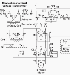 wiring of control power transformer for motor control circuits eep phase motor connection schematic power and control wiring [ 1144 x 1059 Pixel ]