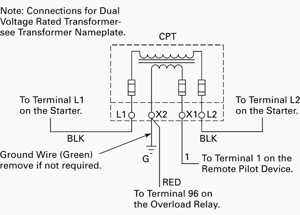 medium resolution of wiring of control power transformer for motor control circuits eep 3 phase transformer connection diagram control