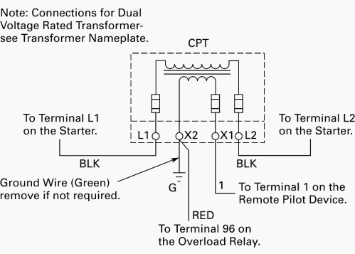 small resolution of wiring of control power transformer for motor control circuits eep 3 phase transformer connection diagram control