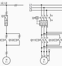 motor circuit diagram 1 pole and 3 pole representation [ 953 x 887 Pixel ]