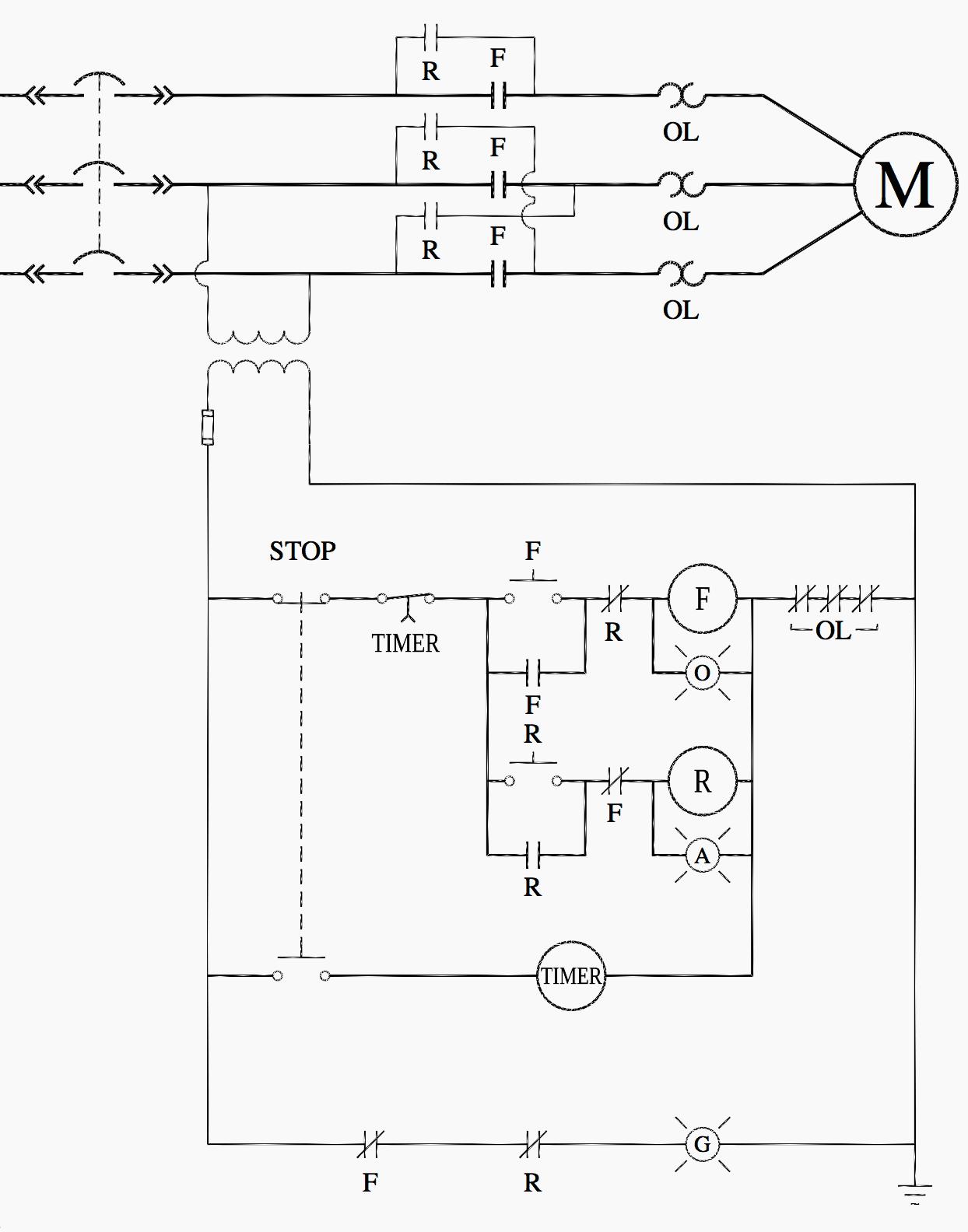 Abb Motor Starter Wiring Diagram Ladder Logic For Special Motor Control Circuits Jogging