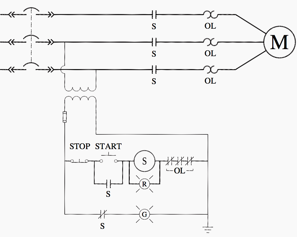 hight resolution of control circuit control power transformer