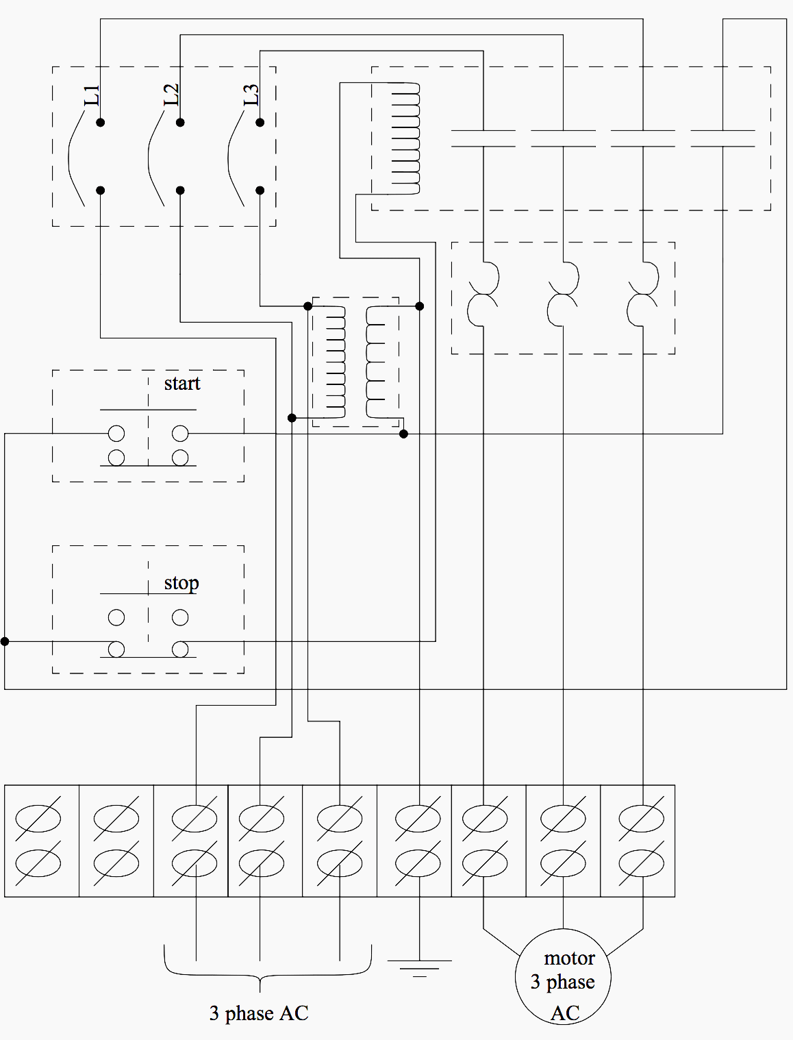 machine electrical wiring symbols