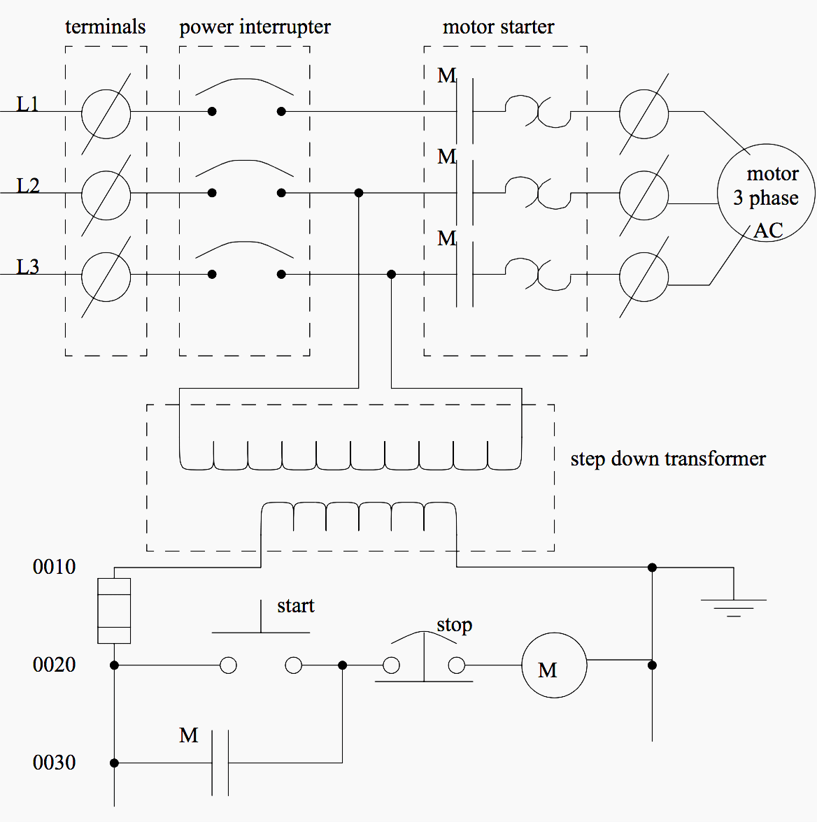 hight resolution of a motor controller schematic