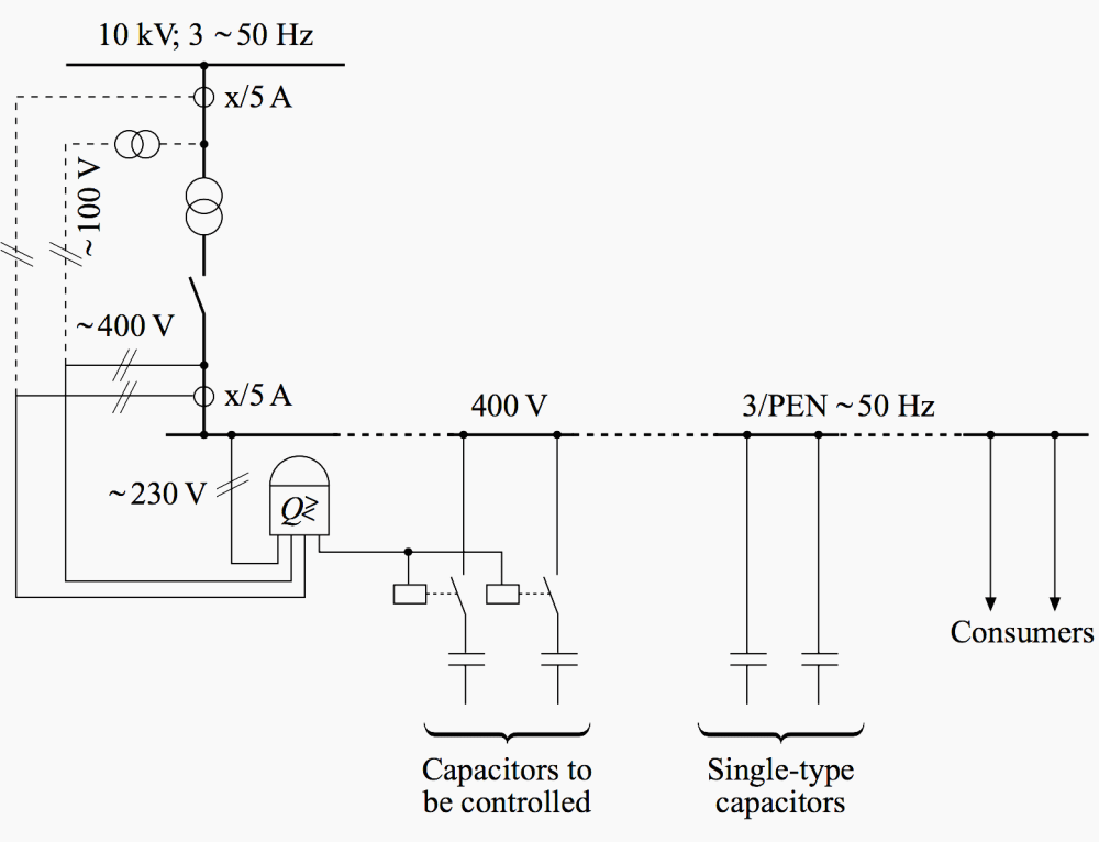 medium resolution of circuit diagram of compensation taking the current and voltage path either from the lv or from