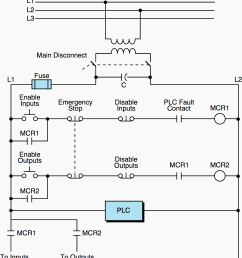 circuit that enables disables i o power through mcrs and plc fault contact detection [ 1549 x 1743 Pixel ]