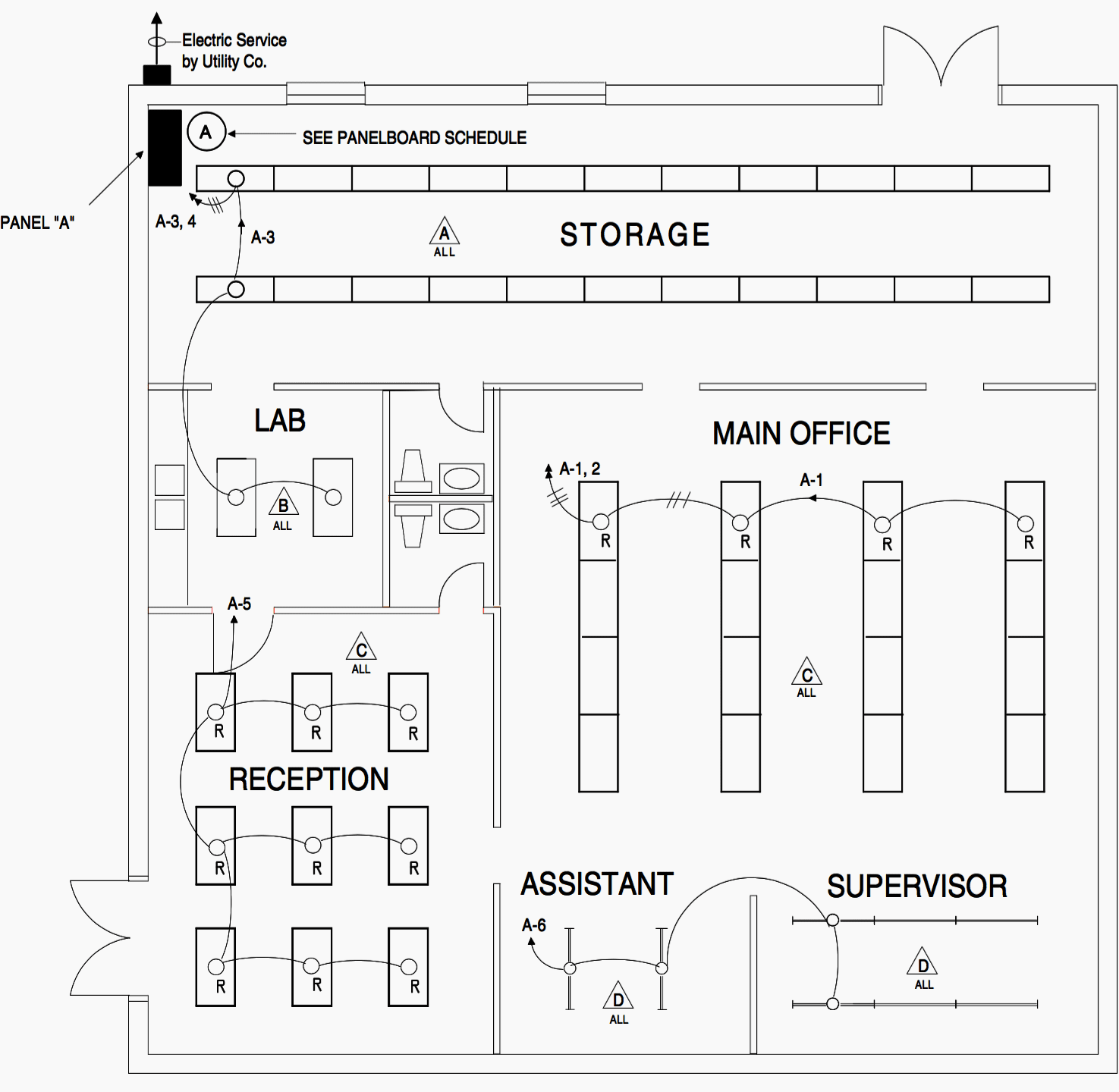 hight resolution of lighting floor plan