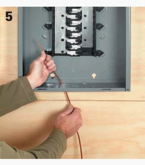 small resolution of route the ground wire through a small 3 8 hole provided towards the rear