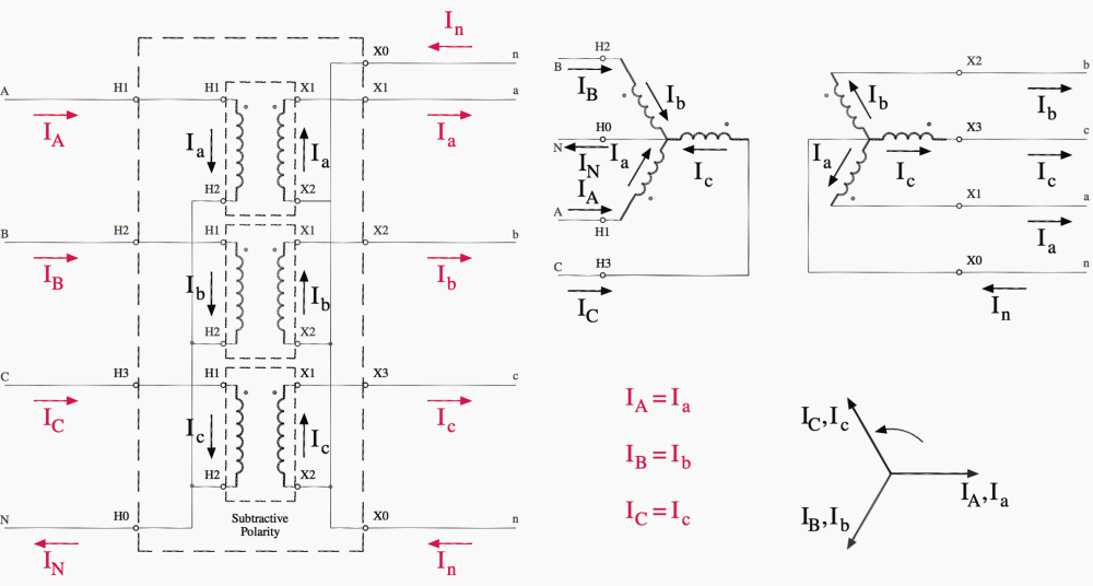 medium resolution of wye wye transformer connections diagram
