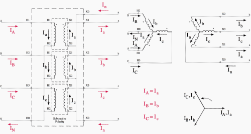 small resolution of wye wye transformer connections diagram