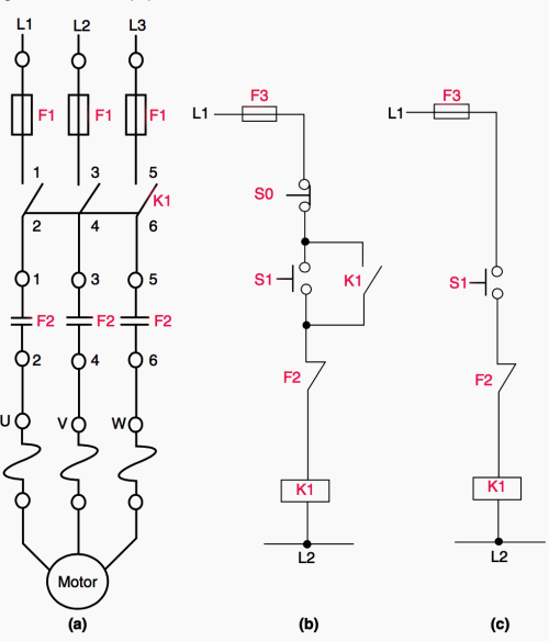 small resolution of basic control circuit for dol direct on line starter