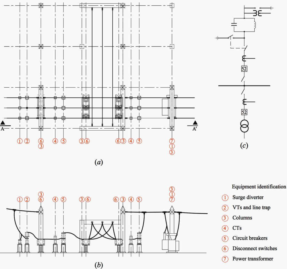 medium resolution of general layout for two 115 kv bays a general layout