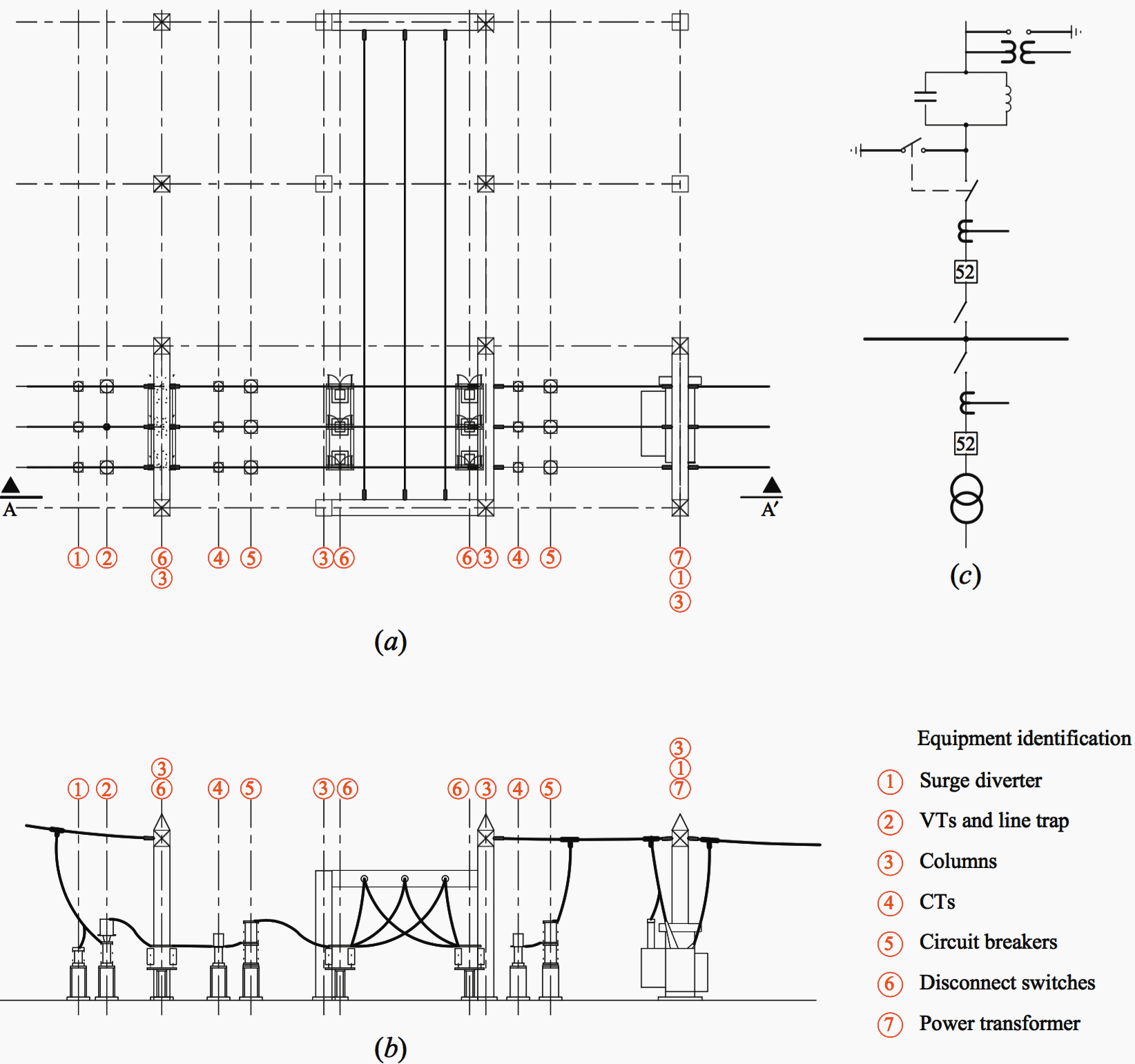 hight resolution of general layout for two 115 kv bays a general layout