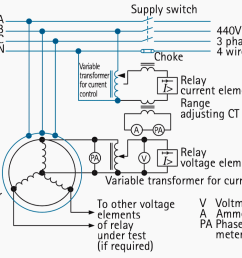 circuit diagram for traditional test set for directional distance relays [ 1087 x 800 Pixel ]