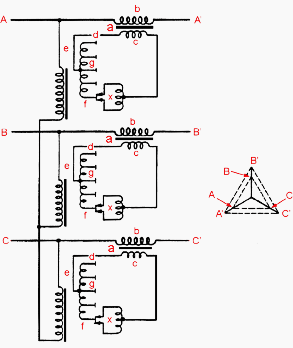 medium resolution of winding arrangement of a separate in phase voltage regulating booster transformer