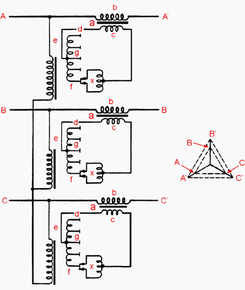 small resolution of winding arrangement of a separate in phase voltage regulating booster transformer