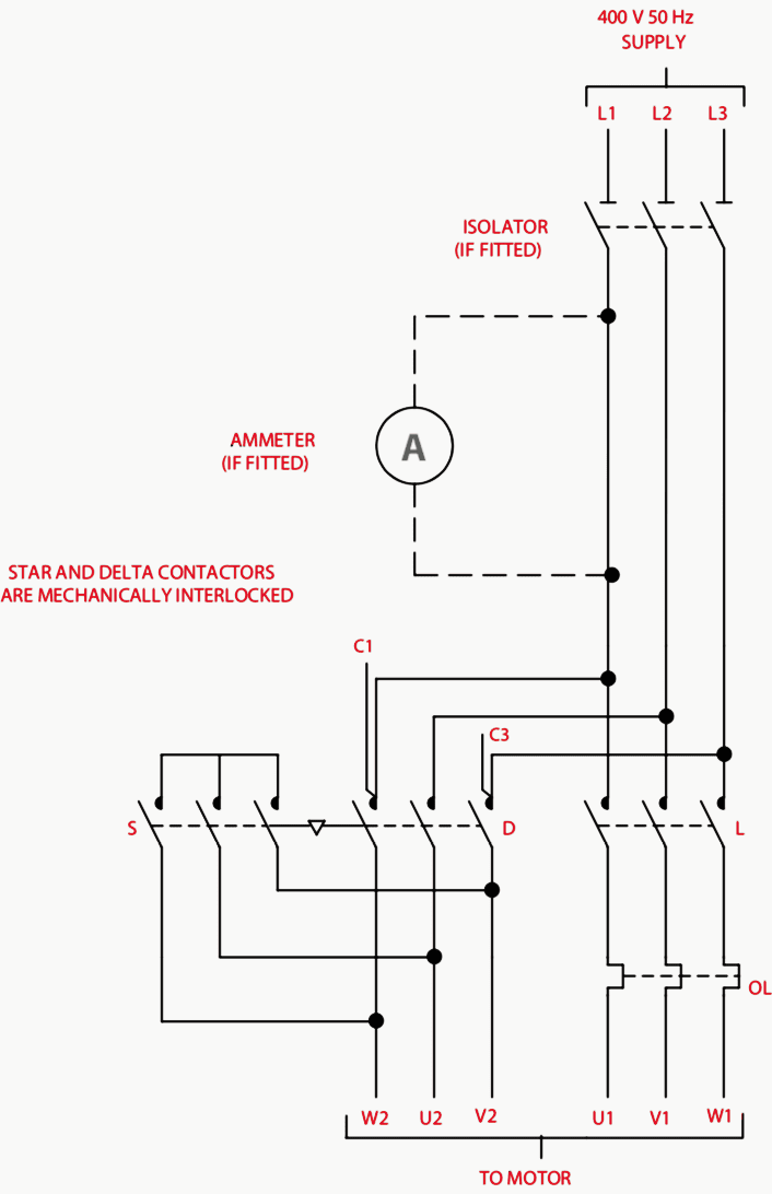 star delta control circuit diagram 230v relay wiring contactor as an important part of the motor gear | eep