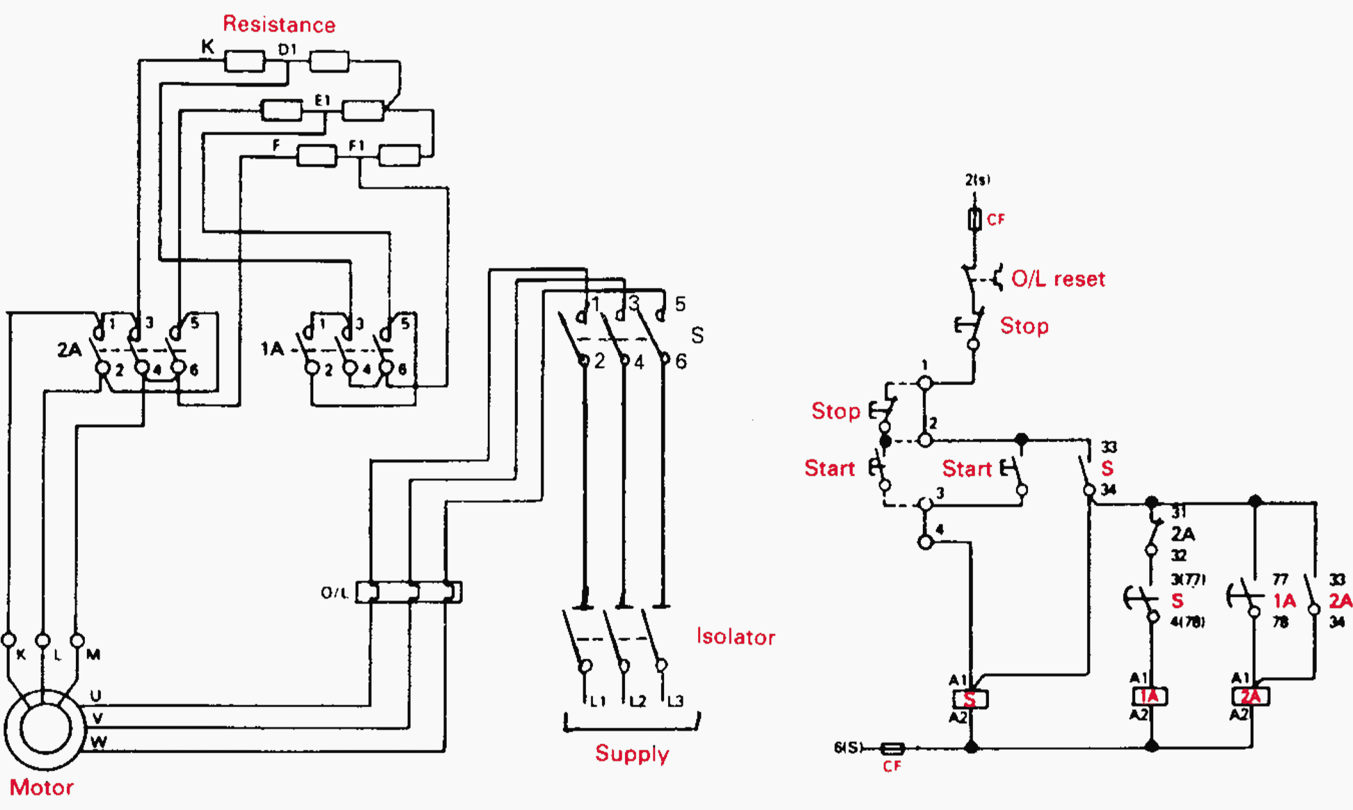 auto starter motor wiring diagram house symbols uk contactor as an important part of the control gear eep