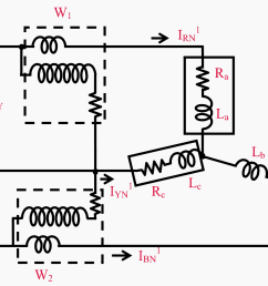 connection diagram for two wattmeter method of power measurement in a three phase balanced [ 1207 x 958 Pixel ]