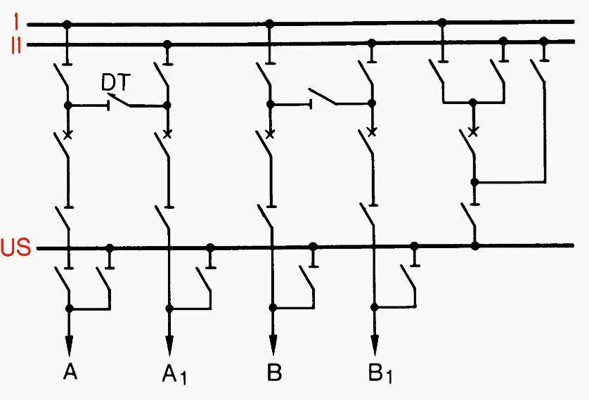 Circuit configurations (single line diagrams) for HV and