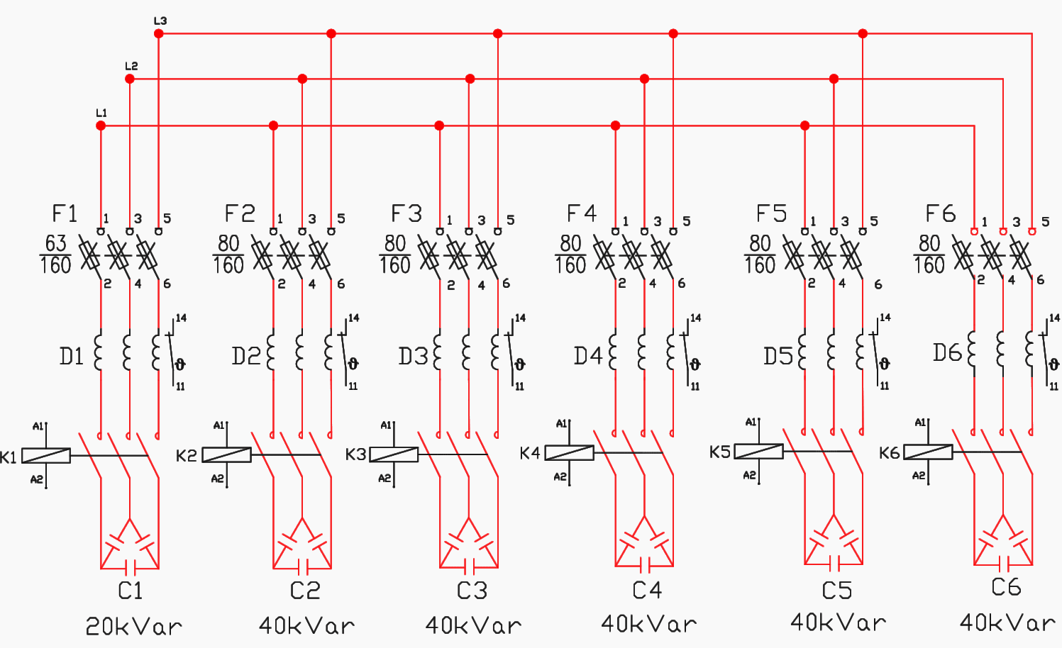 hight resolution of the main circuit of circuit breaker cb