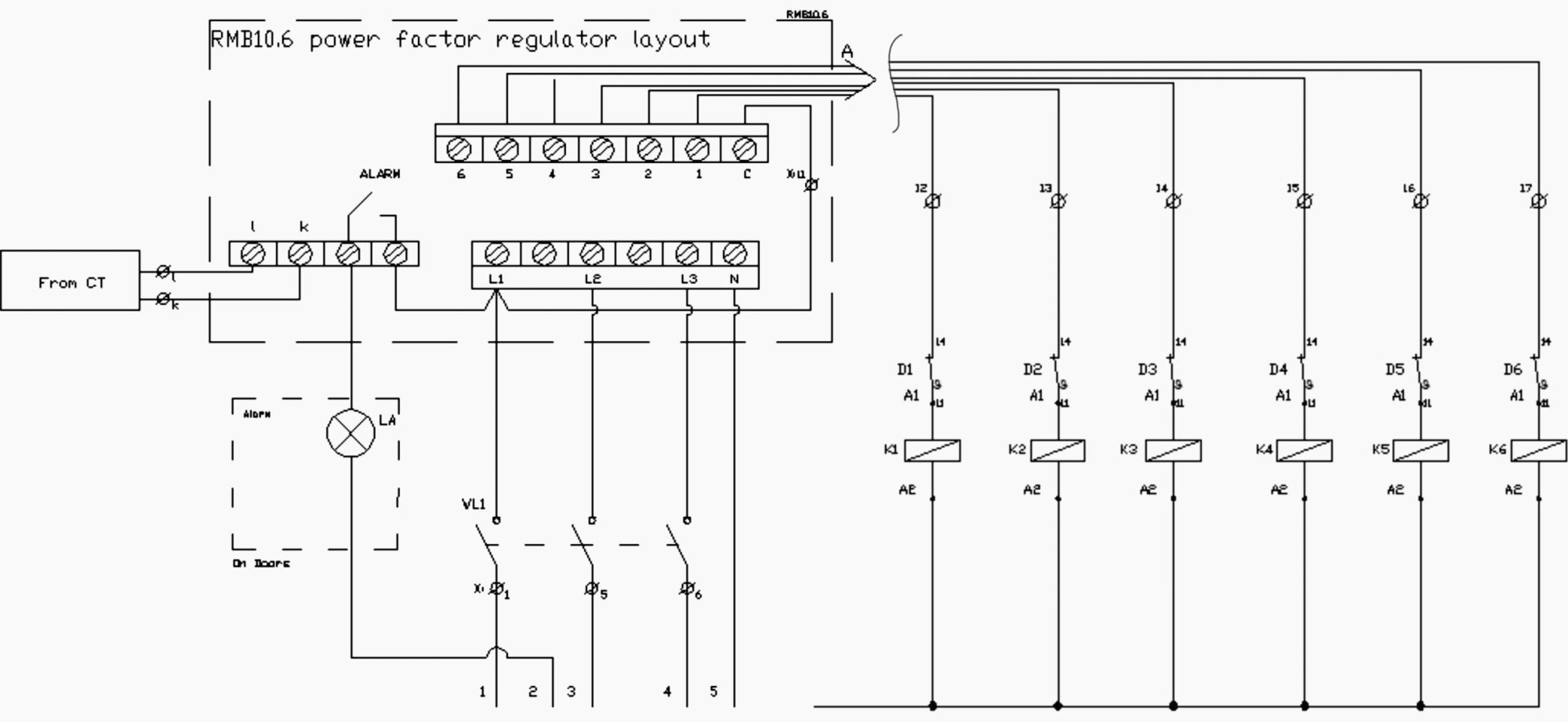hight resolution of wiring of capacitor bank control circuit