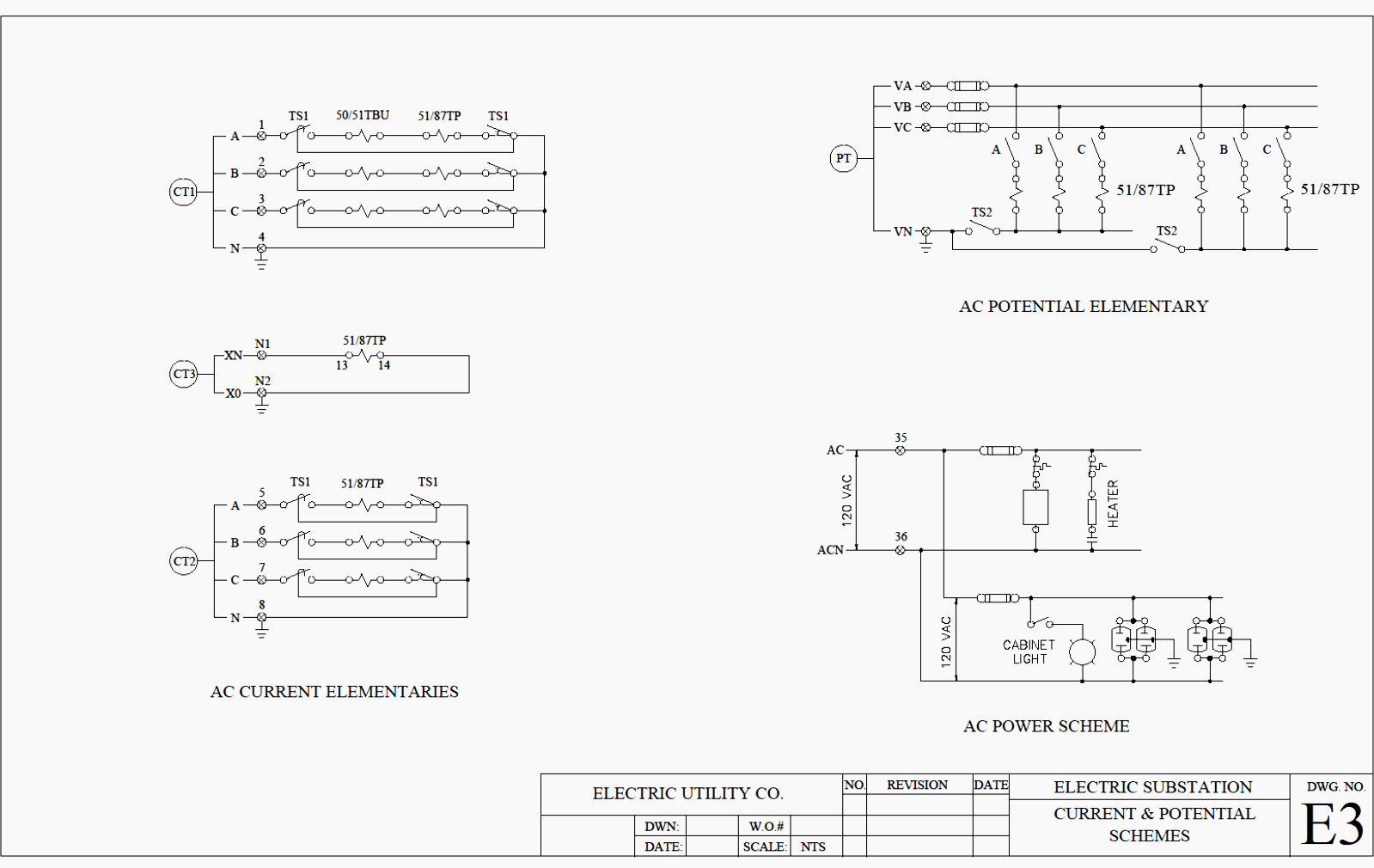 hight resolution of continuation of example b of an ac schematic