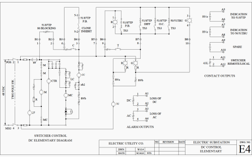 small resolution of example a dc schematic of switcher operated by relays of figure 3