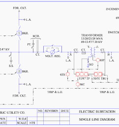 understanding substation single line diagrams and iec 61850 process electrical single line diagram sample electrical single line diagram example [ 1347 x 1053 Pixel ]