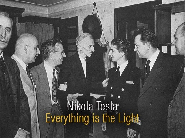 Tesla meets King Peter II of Yugoslavia on July 15, 1942