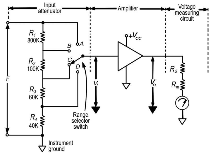 Electronic Voltmeter Working and Block Diagram
