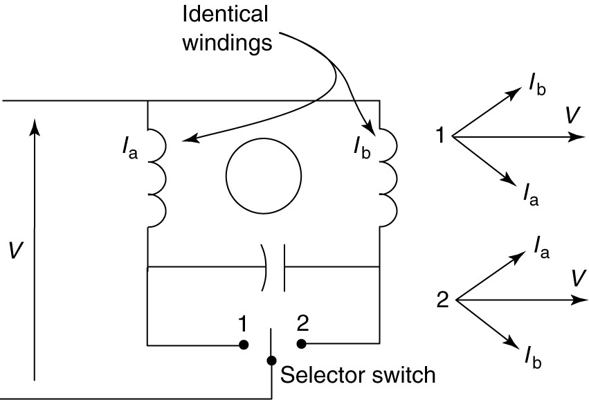 Capacitor Reversing Single Phase Motor Wiring Diagram