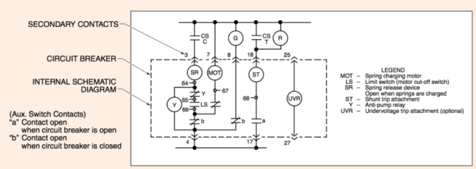 circuit breaker schematic diagram  electrical academia
