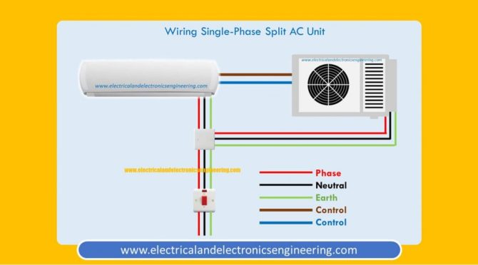single phase split ac wiring diagram  electrical and