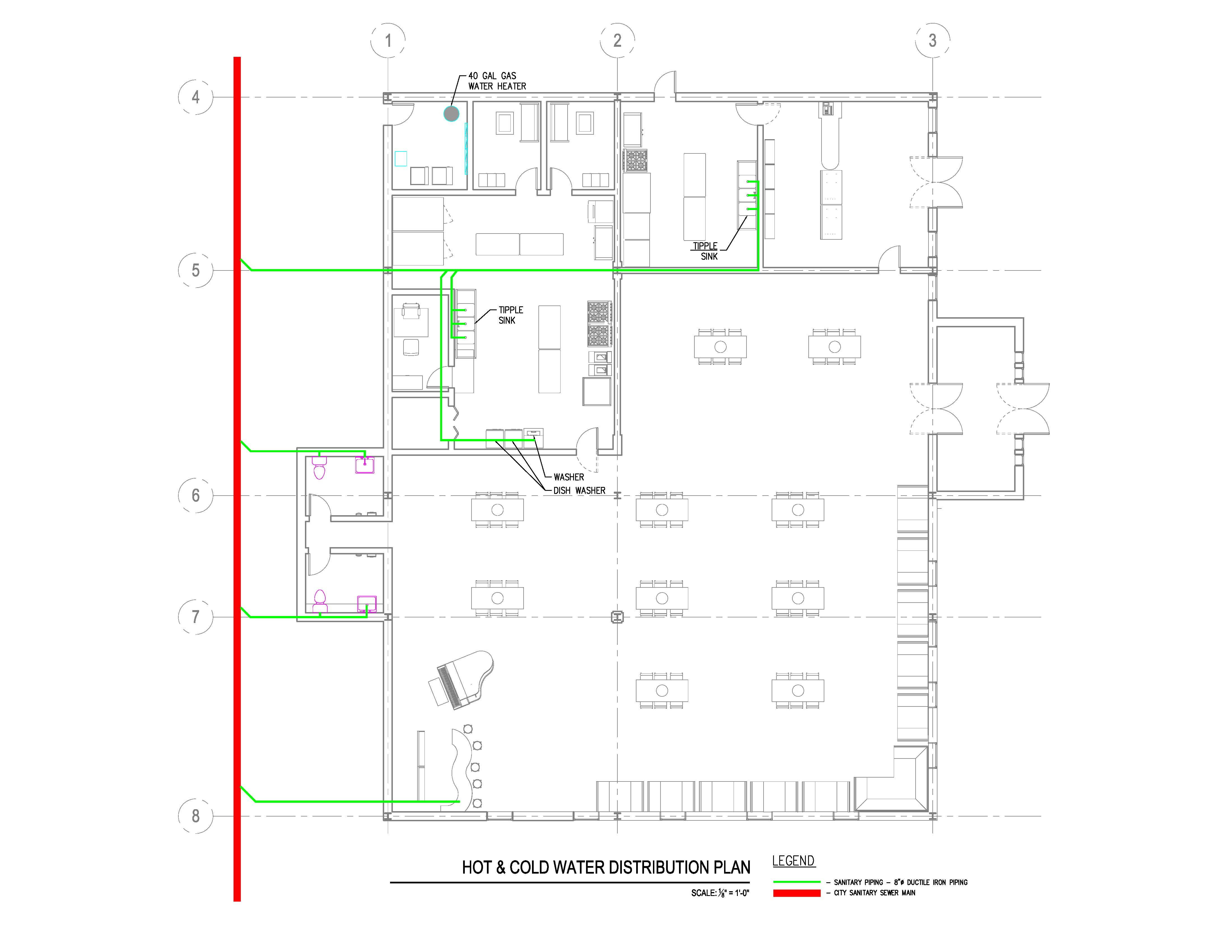 plumbing sanitary riser diagram 2003 dodge ram 1500 window wiring system electrical and design