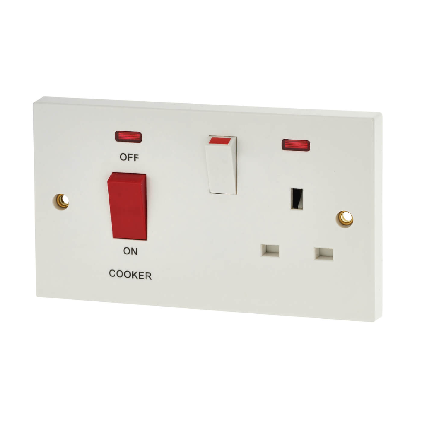 2 gang cooker switch wiring diagram lincoln electric welder parts bg 45a control with neon white