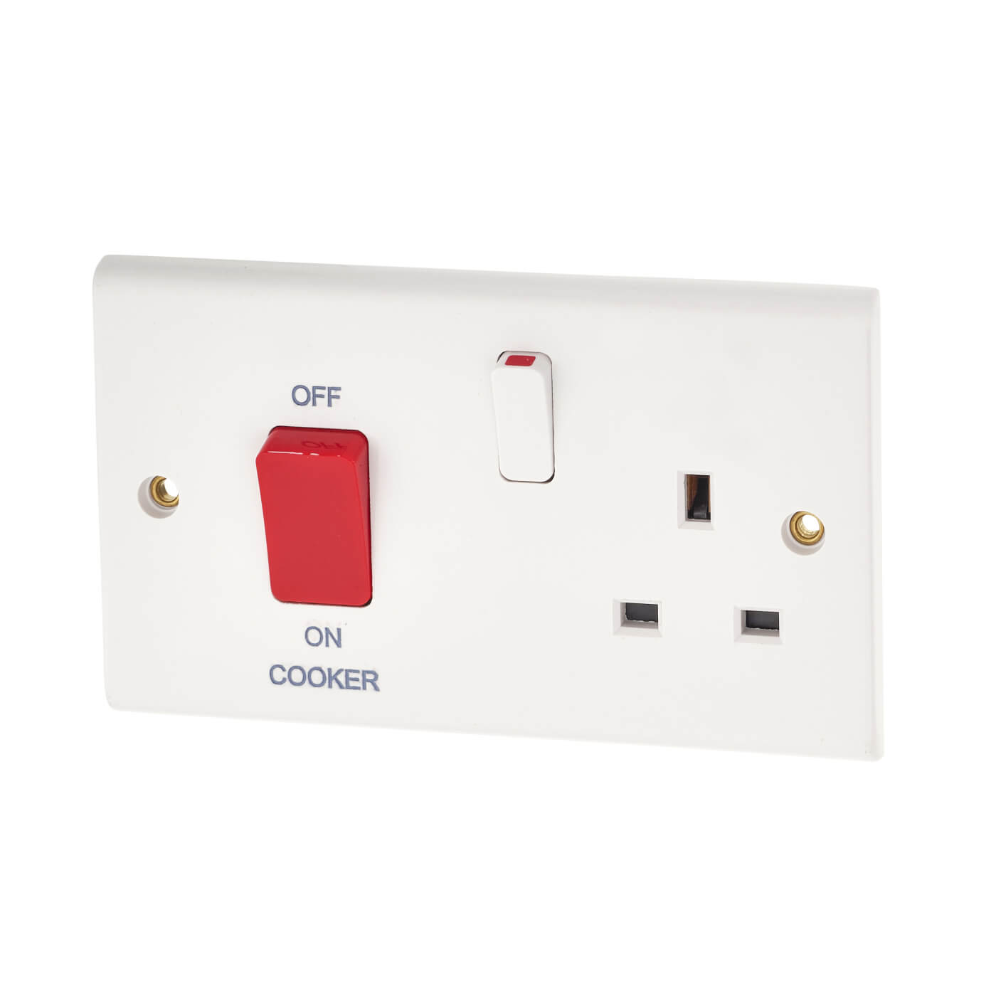 2 gang cooker switch wiring diagram of avian flu deta 45a and socket white